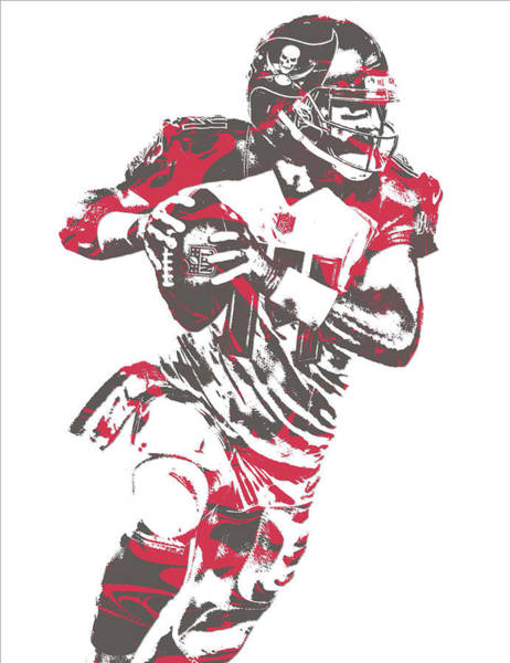 Wall Art - Mixed Media - Ryan Fitzpatrick Tampa Bay Buccaneers Pixel Art 6 by Joe Hamilton