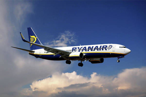Airline Photograph - Ryanair Boeing 737-8as  by Smart Aviation