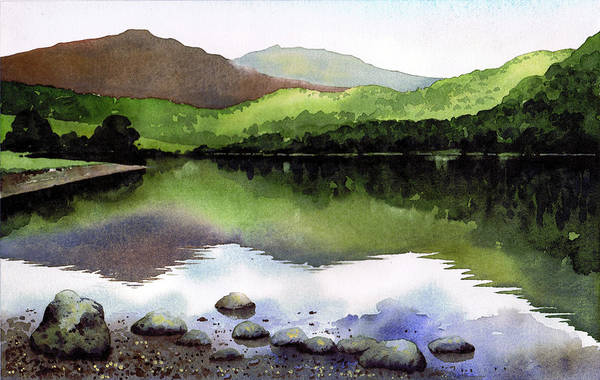 Wall Art - Painting - Rydal Water by Paul Dene Marlor