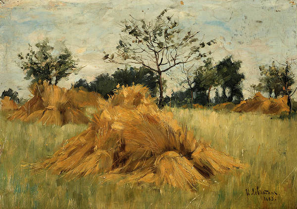 Russian River Painting - Rye Field by Isaac Ilyich Levitan