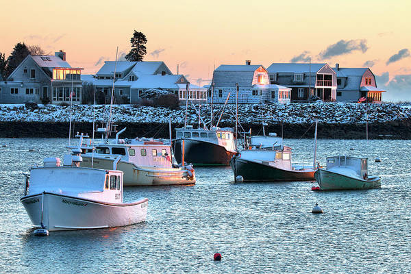 Wall Art - Photograph - Rye Harbor Winter Morning by Eric Gendron