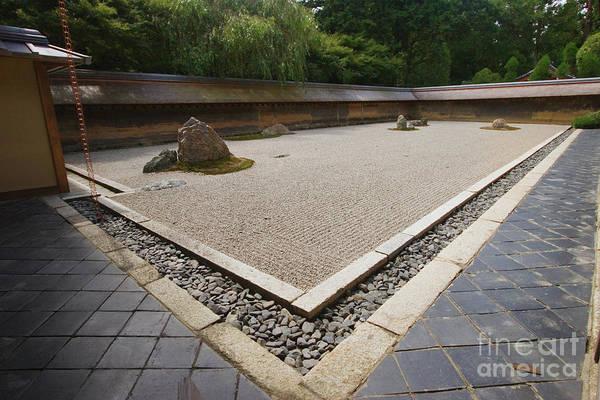 Kansai Region Wall Art - Photograph - Ryoanji Temple Zen Rock Garden by Ei Katsumata
