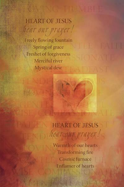 Sacred Heart Digital Art - S H Litany 3-4a by Terry Davis
