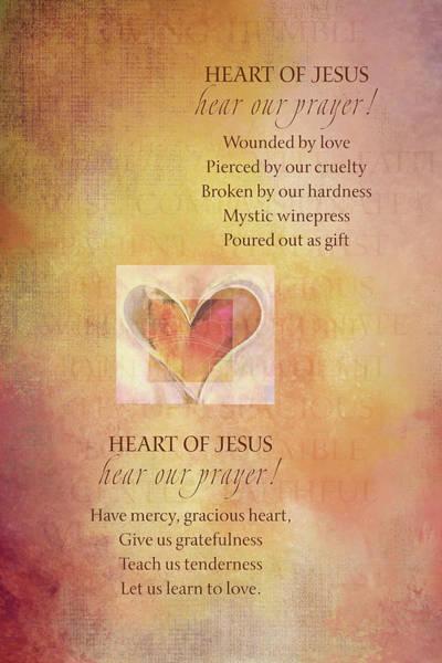 Sacred Heart Digital Art - S H Litany 8-9 by Terry Davis