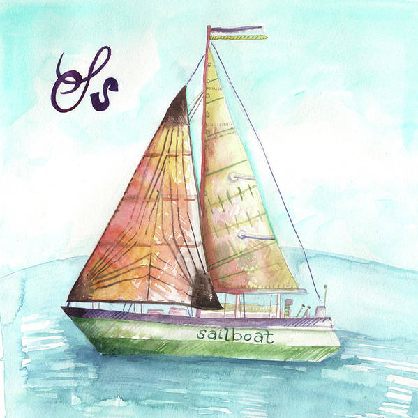 Wall Art - Painting - S Is For Sailboat by Kristy Lankford