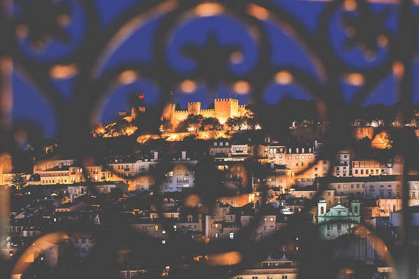 Wall Art - Photograph - S. Jorge Castle At Twilight by Andre Goncalves
