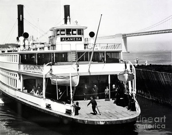 Photograph - S. P. Ferry Alameda At San Francisco Circa 1940 by California Views Archives Mr Pat Hathaway Archives