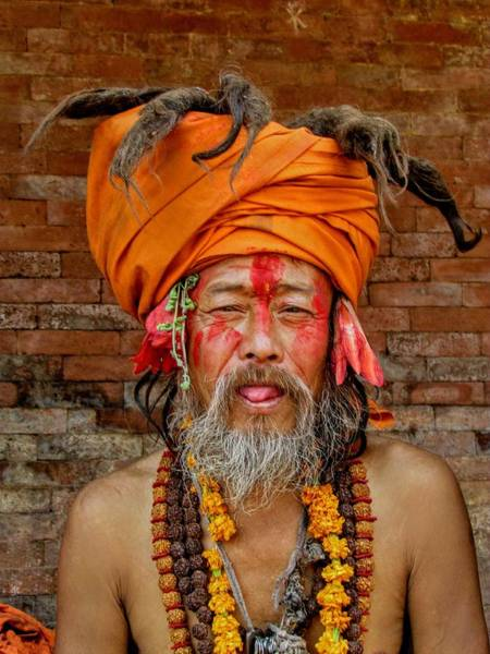 Photograph - Saadhu-katmandu-nepal by Duncan Davies