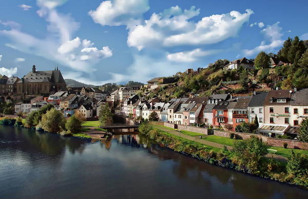Photograph - Saarburg Town Panorama by Anthony Dezenzio