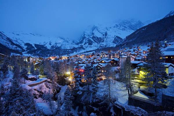Photograph - Saas Fee Resort by Stephen Taylor