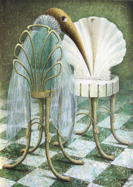 Birdman Painting - Saba by Lolita Bronzini