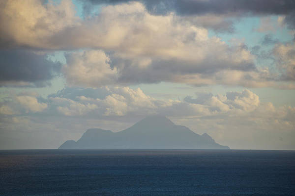 Photograph - Saba On The Horizon Simpson Bay Caribbean by Toby McGuire