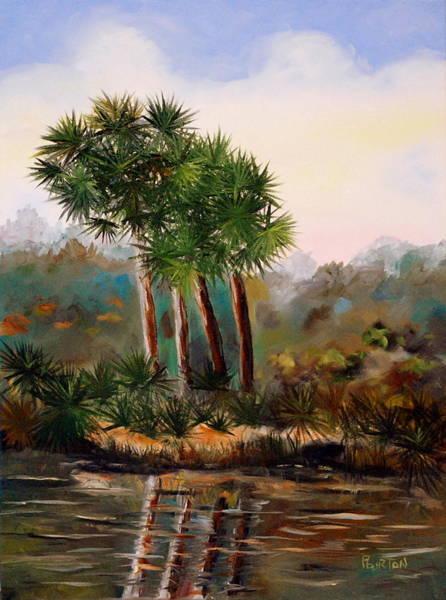 Painting - Sabal Palmettos by Phil Burton