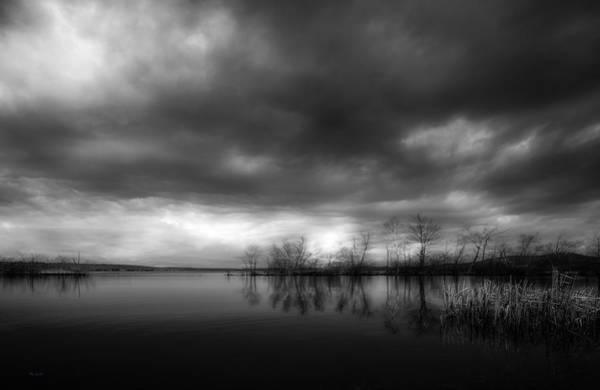 Photograph - Sabattus Pond  Moonlight by Bob Orsillo