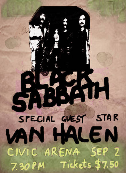 Blue Oyster Cult Wall Art - Mixed Media - Sabbath Tour Pittsburgh Pa 1978  by Enki Art