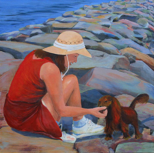 Painting - Sable And Me by Trina Teele
