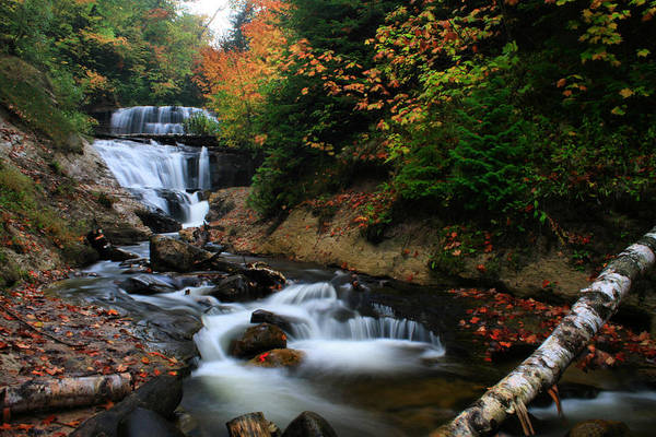 Wall Art - Photograph - Sable Falls In Autumn by Matthew Winn