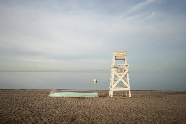 Wall Art - Photograph - Sasco Beach Life Guard Chair by Stephanie McDowell