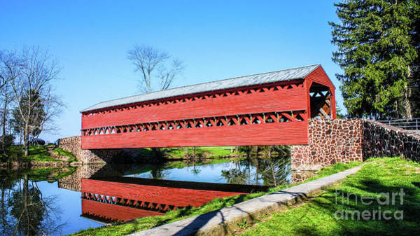 Wall Art - Photograph - Sach's Cover Bridge by William Rogers