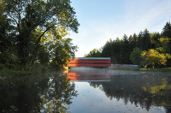 Wall Art - Photograph - Sachs Covered Bridge In The Morning by Bill Cannon
