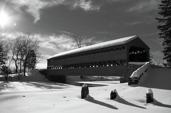 Wall Art - Photograph - Sach's Covered Bridge by Kat Zalewski-Bednarek