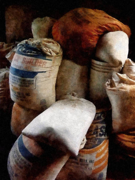 Photograph - Sacks Of Feed by Susan Savad