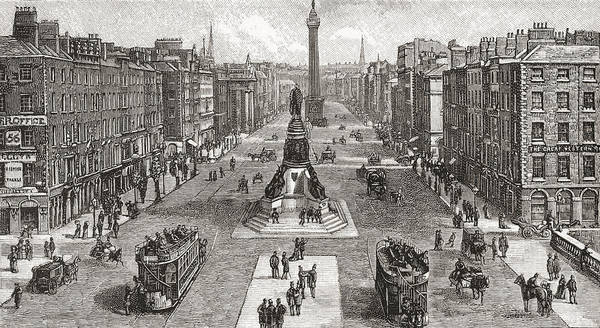 Wall Art - Drawing - Sackville Street  Now O Connell Street by Vintage Design Pics