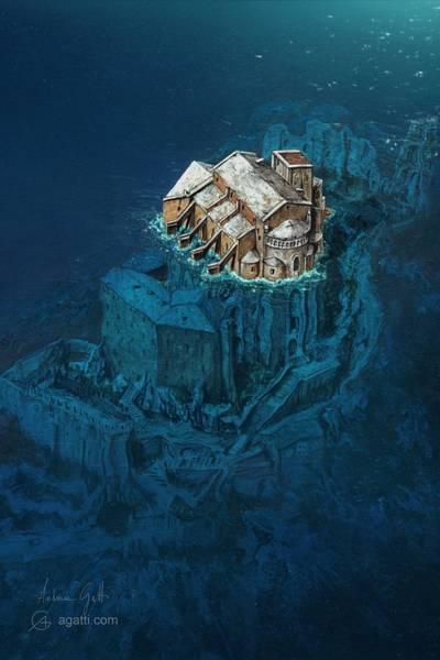 Ocean Scape Digital Art - Sacra Di San Michele by Andrea Gatti