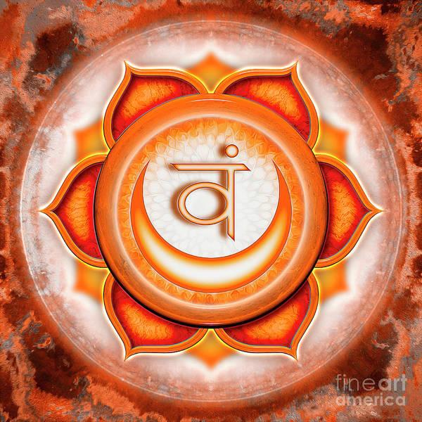 Lotus Mixed Media - Sacral Chakra - Series 5 by Dirk Czarnota