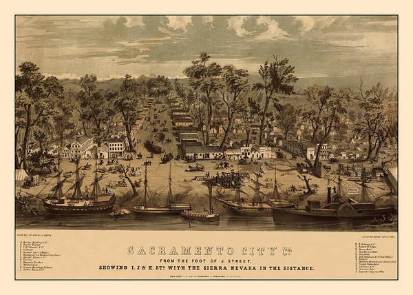 Photograph - Sacramento 1850 by Andrew Fare