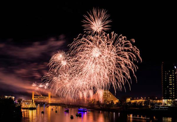 Photograph - Sacramento Fireworks 1 by Jim Thompson