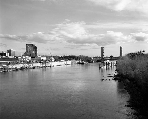 Photograph - Sacramento River And Tower Bridge 1985 by Lee Santa