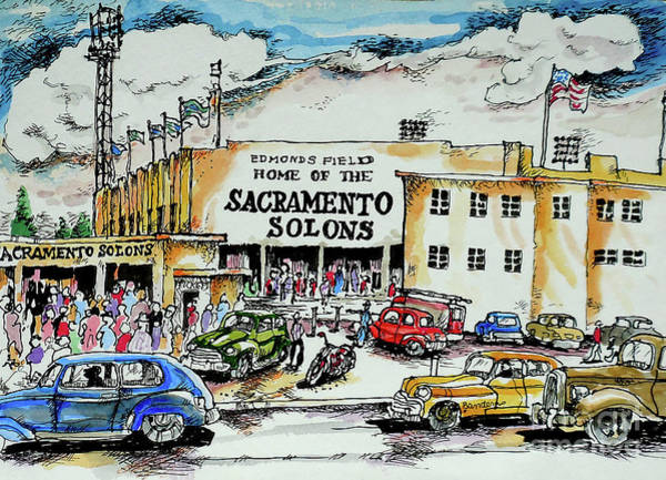 Sacramento Solons Wall Art - Painting - Sacramento Solons by Terry Banderas