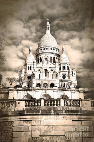 Wall Art - Photograph - Sacre Coeur Sepia by Jane Rix