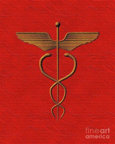 Medicine Painting - Sacred Caduceus by Pierre Blanchard