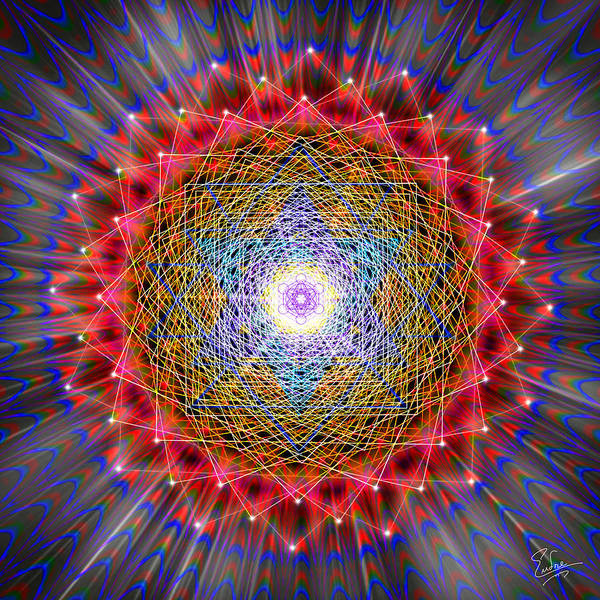 Digital Art - Sacred Geometry 146 by Endre Balogh