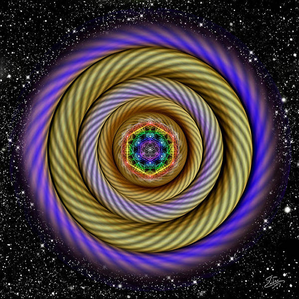 Digital Art - Sacred Geometry 405 by Endre Balogh