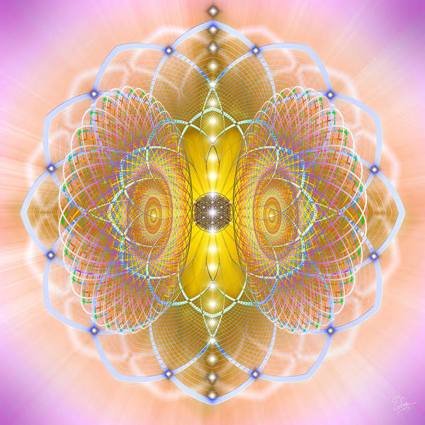 Photograph - Sacred Geometry 459 Number 1 by Endre Balogh