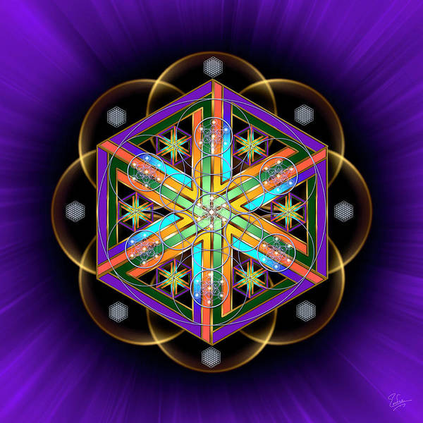 Photograph - Sacred Geometry 493 by Endre Balogh