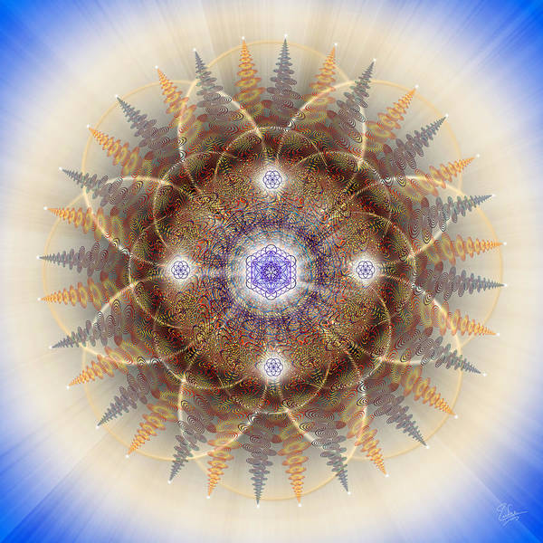 Digital Art - Sacred Geometry 537 by Endre Balogh