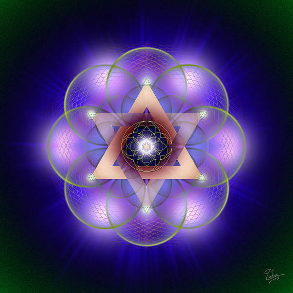 Digital Art - Sacred Geometry 541 by Endre Balogh