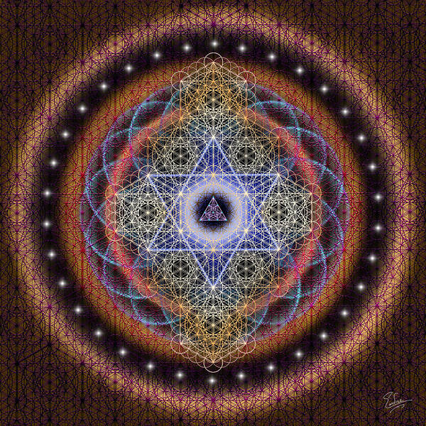 Digital Art - Sacred Geometry 542 by Endre Balogh