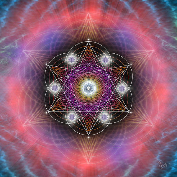 Digital Art - Sacred Geometry 544 by Endre Balogh