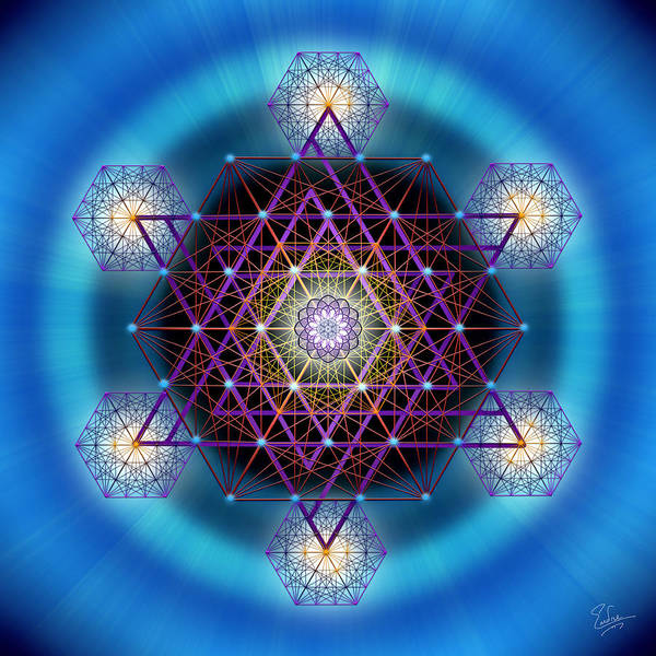 Digital Art - Sacred Geometry 547 by Endre Balogh