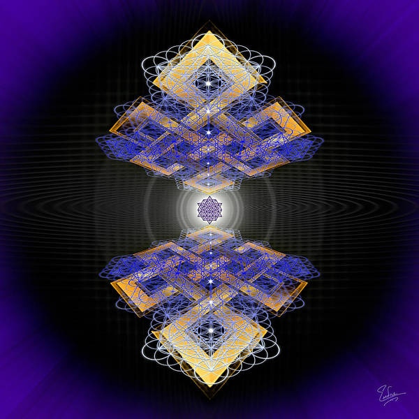 Digital Art - Sacred Geometry 548 by Endre Balogh