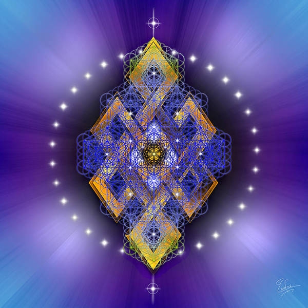 Digital Art - Sacred Geometry 549 by Endre Balogh