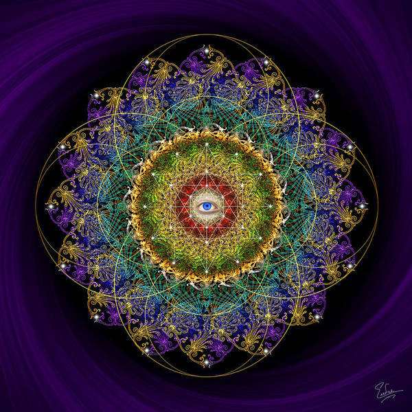 Digital Art - Sacred Geometry 550 by Endre Balogh