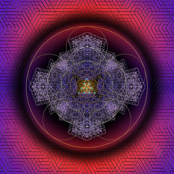 Digital Art - Sacred Geometry 551 by Endre Balogh