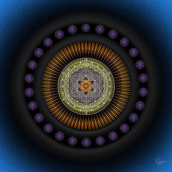 Digital Art - Sacred Geometry 553 by Endre Balogh