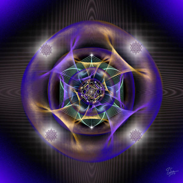 Digital Art - Sacred Geometry 554 by Endre Balogh